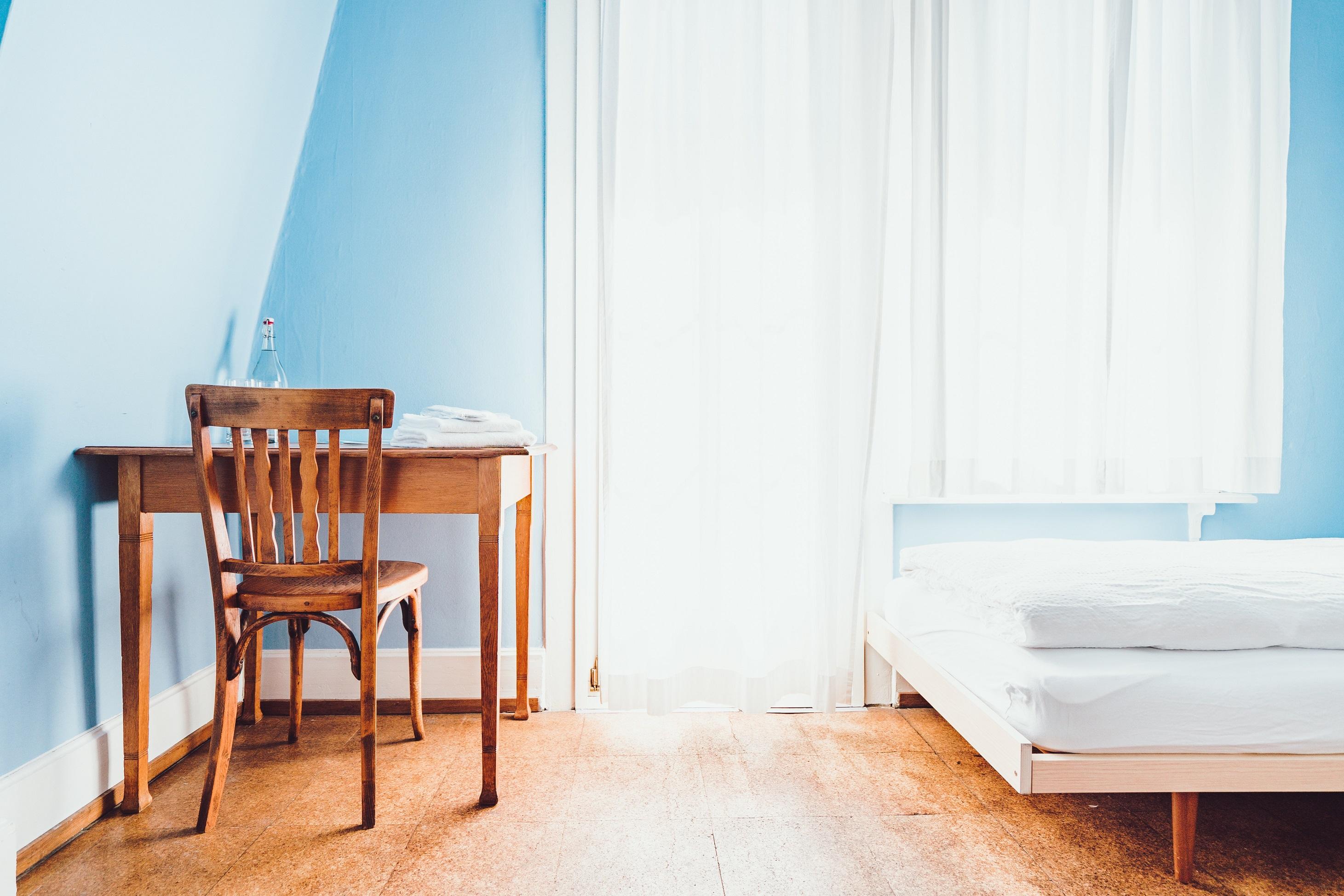 tono azul habitación