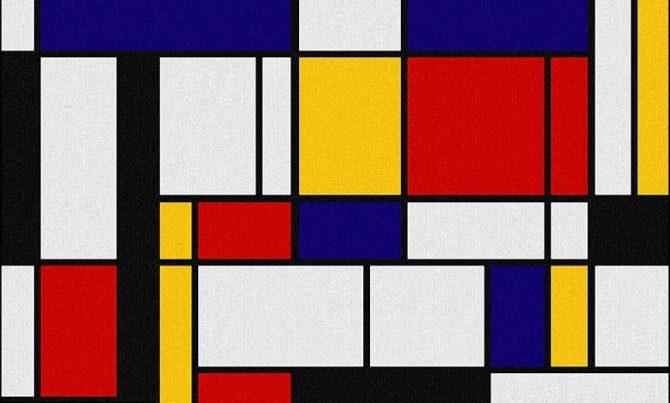 Piet Mondrian cuadros abstractos