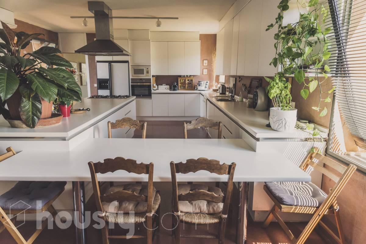 Espectacular cocina en Torrelodones. Cocinas modernas blancas.