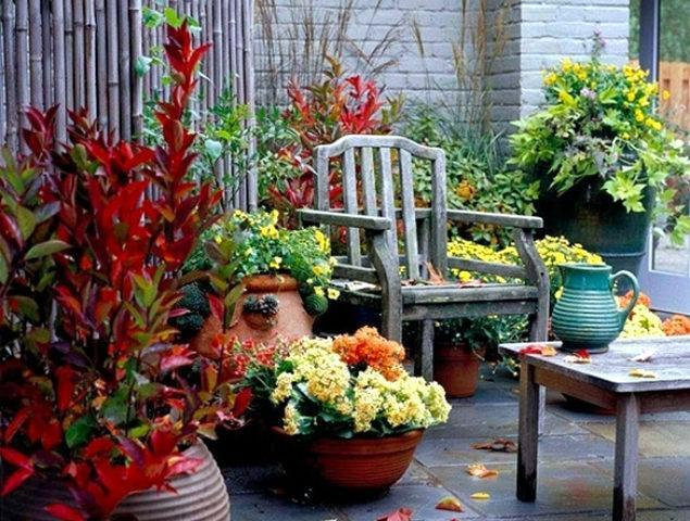 muebles madera decoración jardín