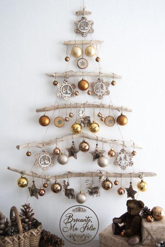 Árbol de Navidad en DIY. Fuente: Pinterest