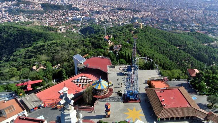 Collserola vista desde el Tibidabo